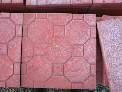 Patio Paver Octagon And Squares Red
